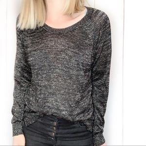 NWT! JOIE Ida Metallic Knit Sweater Lightweight